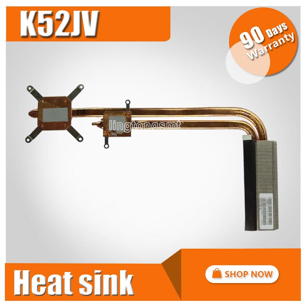 NEW Original For ASUS K52JV laptop heatsink cooling fan cpu cooler K52JV CPU heatsink Radiator Heat sink Cooler new original cpu cooling fan for asus k550d k550dp dc brushless cpu cooler radiators laptop notebook cooling fan ksb0705ha cm1c