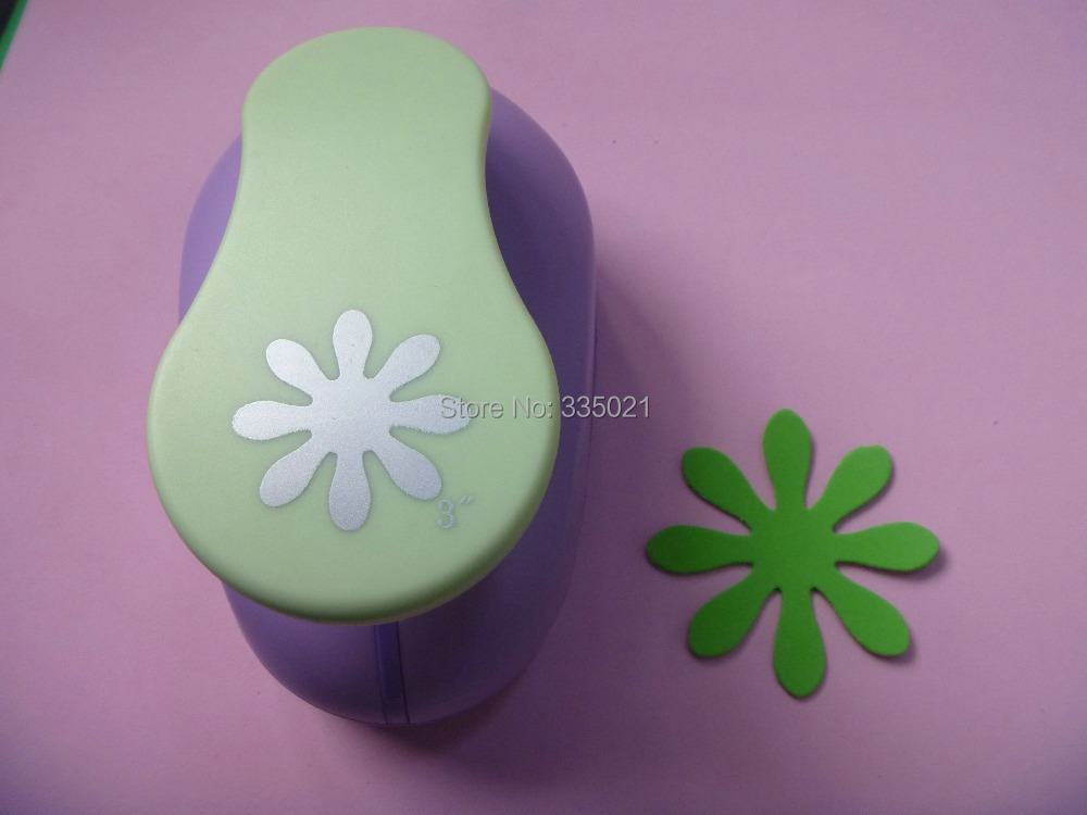 free shipping 3(7.6cm) daisy shape EVA foam punch DIY punch craft punch for greeting card handmade ,Scrapbook puncher
