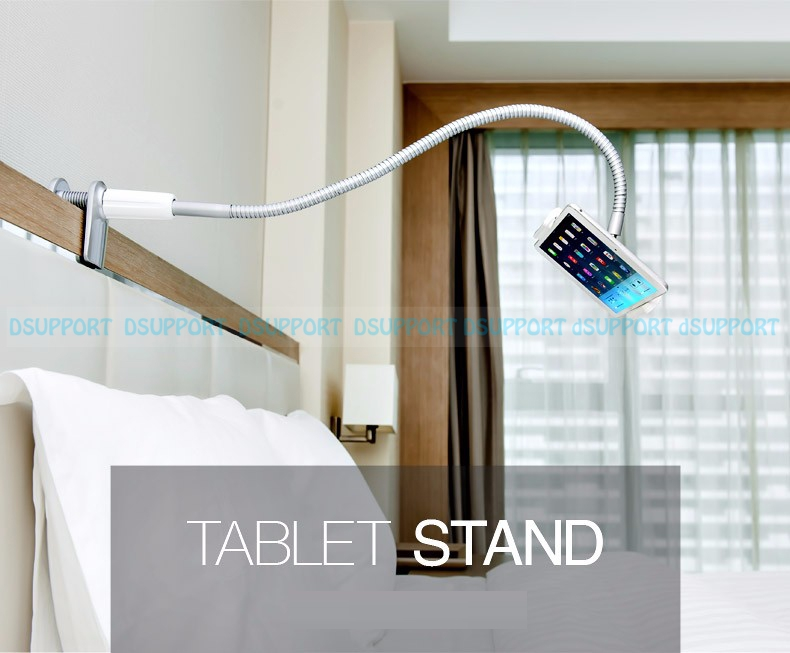 Free Shipping LP-7S Universal Flexible Arm Tablet PC Holder Aluminum Alloy Bed 7-10 inch Tablets/Smartphone Stand