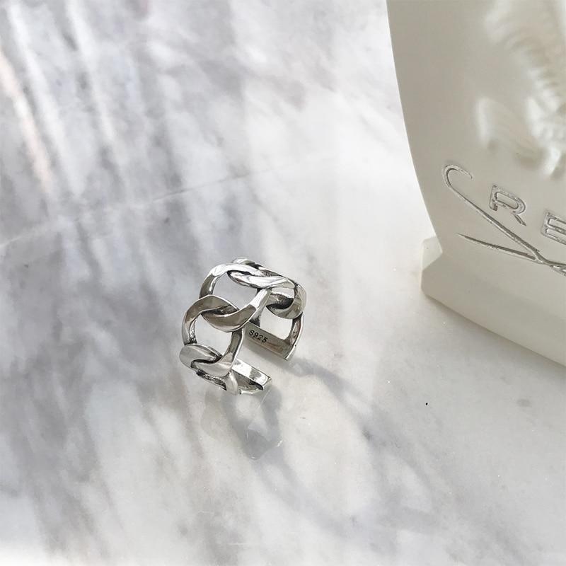 HTB1MpCeKuuSBuNjSsziq6zq8pXaI LouLeur 925 sterling silver wide chain rings silver vintage wild square strip chain open rings for women silver 925 jewelry gift