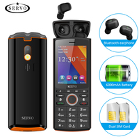 SERVO R25 2.8 Mobile Phone Dual SIM Card with Bluetooth 5.0 TWS Wireless Earphones 6000mAh Power Bank GSM WCDMA GPRS Cell Phone