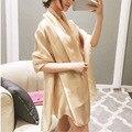 Atacado 12 pcs Moda Xale Lenço De Seda Das Mulheres Lenços de Marca de Luxo Mulher Cachecol Longo Xales Praia Cover-ups Pré-projeto de Venda Quente