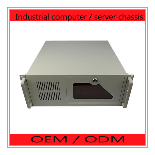4U chassis industrial control 1.2 thick industrial chassis server chassis DVR equipment chassis 4u industrial control server chassis aluminum panel fully open door pc plate power supply