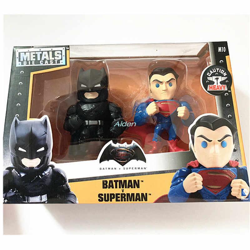 """4 """"ליגת צדק סופרמן באטמן Harleen Quinzel את ג 'וקר קישוט PVC פעולה איור אסיפה דגם צעצוע תיבת 10 CM b1676"""