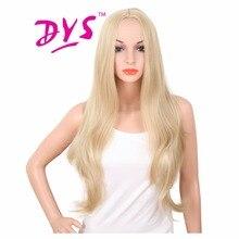 Deyngs длинные объемные волнистые женские парики натуральные из искусственных светлых цветов прическа термостойкая ни один кружевной волос продукт