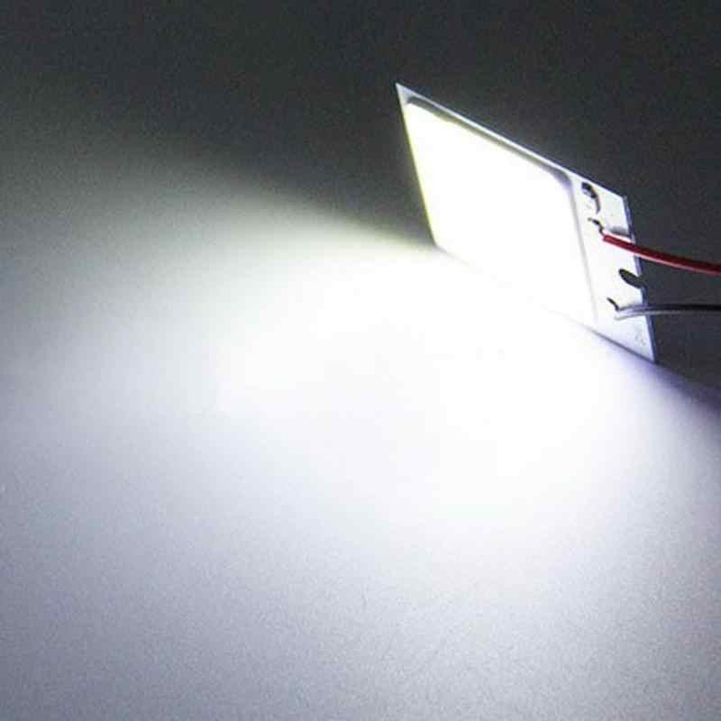 Otomatik led ışık Cob 48 SMD Çip Süper Beyaz Otomobil Okuma Lambası 12 v Araba Kubbe Ampul İç Işık yayan diyot Işık Paneli