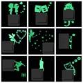 Etiqueta engomada luminosa del interruptor de la historieta que brilla en el gato oscuro pegatina fluorescente Hada Luna estrellas chico decoración del hogar
