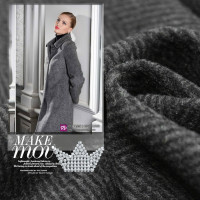 150cm Wide Dark Grey Wool Woolen Fabric Herringbone Wool Coat And Fabric Along The Thick Section