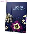 Spring Flower Print 1 pc Professional 180 Colors Nail Gel Polish Display Card Book Chart with Tips Nail Art Salon Set