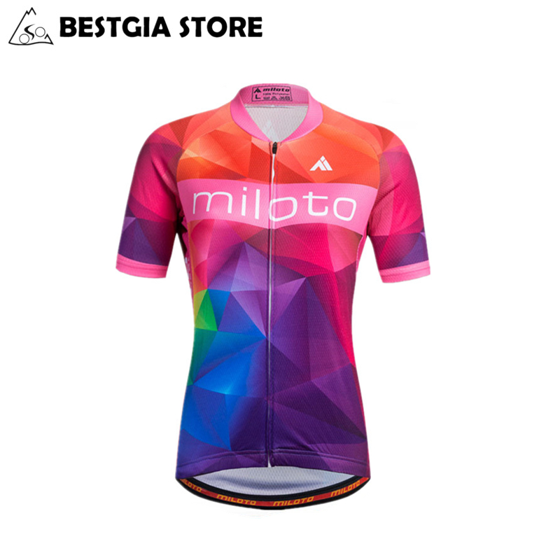 Miloto Womens Short Sleeves Bicycle Jersey Sets Summer MTB Sports Bike Jerseys Road Trac ...
