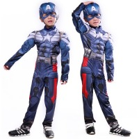 Captain America Cosplay Costume Superhero Superman Avengers Winter Soldier Costumes Kids Jumpsuits Onesies Children S Clothing