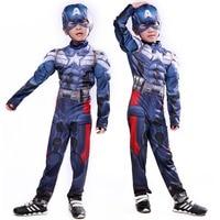 Captain America Cosplay Costume Superhero Superman Avengers Winter Soldier Costumes Kids Jumpsuits Onesies Children S Clothing