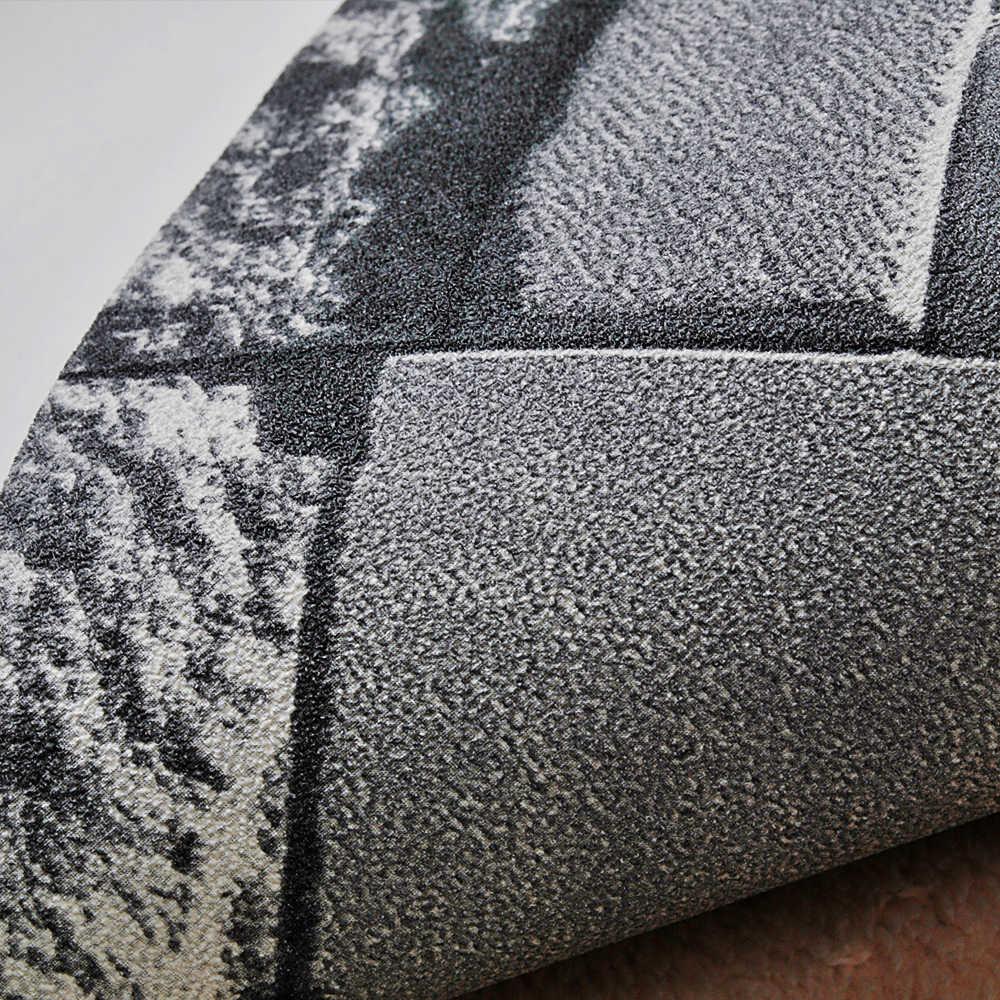 ثلاثية الأبعاد حجر حجر الطوب تأثير قابل للغسل الفينيل بولي كلوريد الفينيل ورق حائط غرفة المعيشة خلفية الجدار خلفية أسود ، رمادي