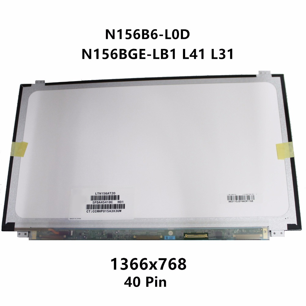 New 15 6 Laptop LCD LED Screen Slim Display Matrix Panel Replacement N156BGE LB1 N156BGE L41