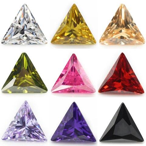 Купить размер 3x3 ~ 10x10 мм треугольная форма 5а кубический цирконий