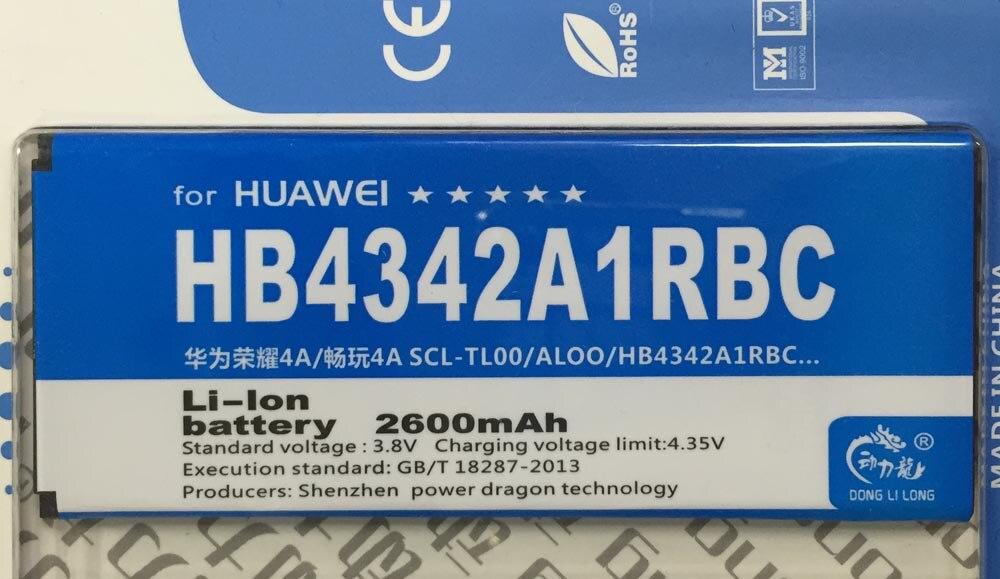 <font><b>Hb4342a1rbc</b></font> аккумулятор для huawei ascend y6 honor 4а scl-tl00 scl-al00 батареи 2200 мАч donglilong