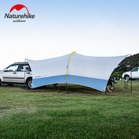 Naturehike Cloud Dome Tent 555*410*230cm UPF 50 UV Protection Camping Car Tent Outdoor Awnings 15D Oxford Fabric Family Sunshade