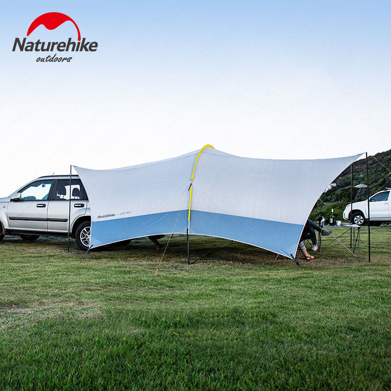 Naturetrekking nuage dôme tente 555*410*230cm UPF 50 UV Protection Camping voiture tente extérieur auvents 15D Oxford tissu famille parasol