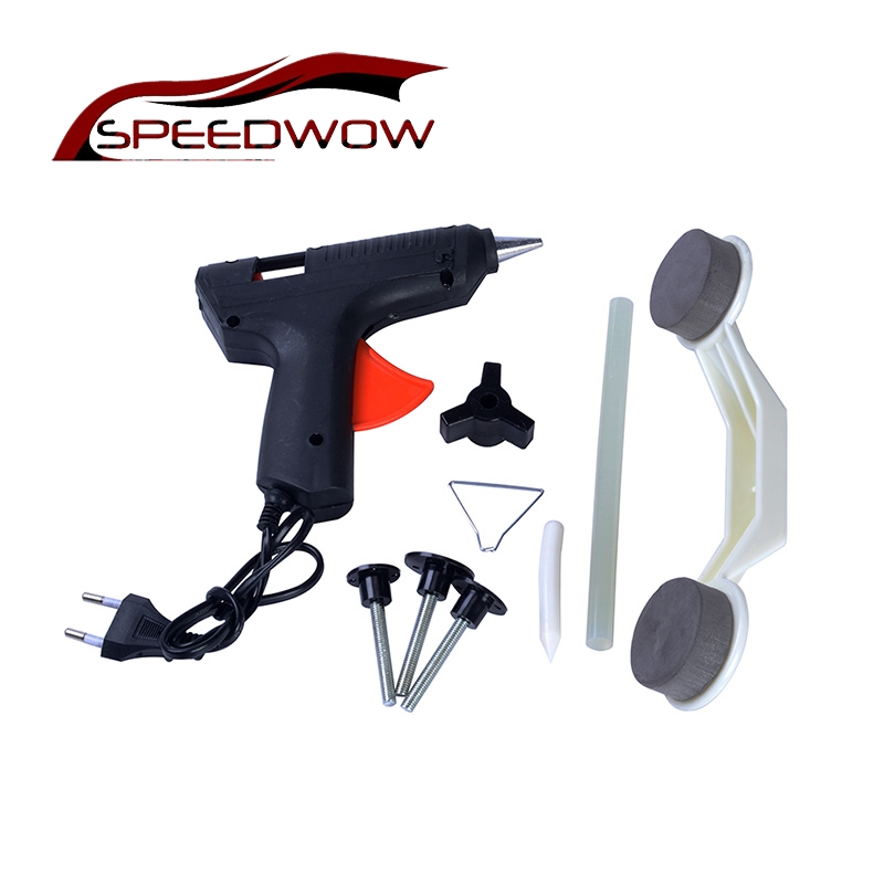 SPEEDWOW Car Auto Dent Car Repair Kit Car DIY Damage Repair Removal Tool With Glue Stick EU Plug