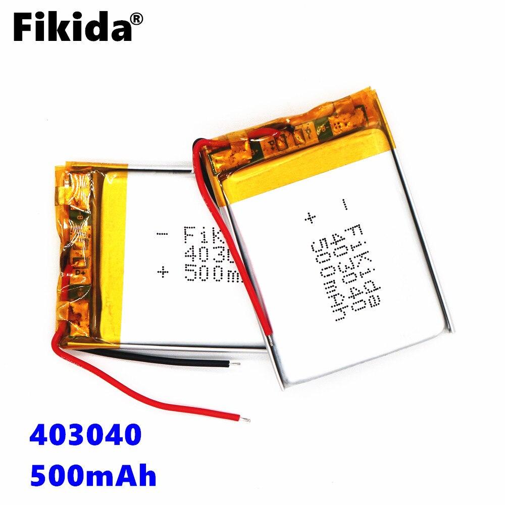 Fikida Free shipping 3.7V lithium polymer battery 403040 450mAh MP3 MP4 GPS Bluetooth lithium battery small stereo bluetooth GPS best battery brand 1pcs free shipping lithium battery 3 7v bluetooth headset battery 031220 301220 70mah mp3 mp4 small toys ba