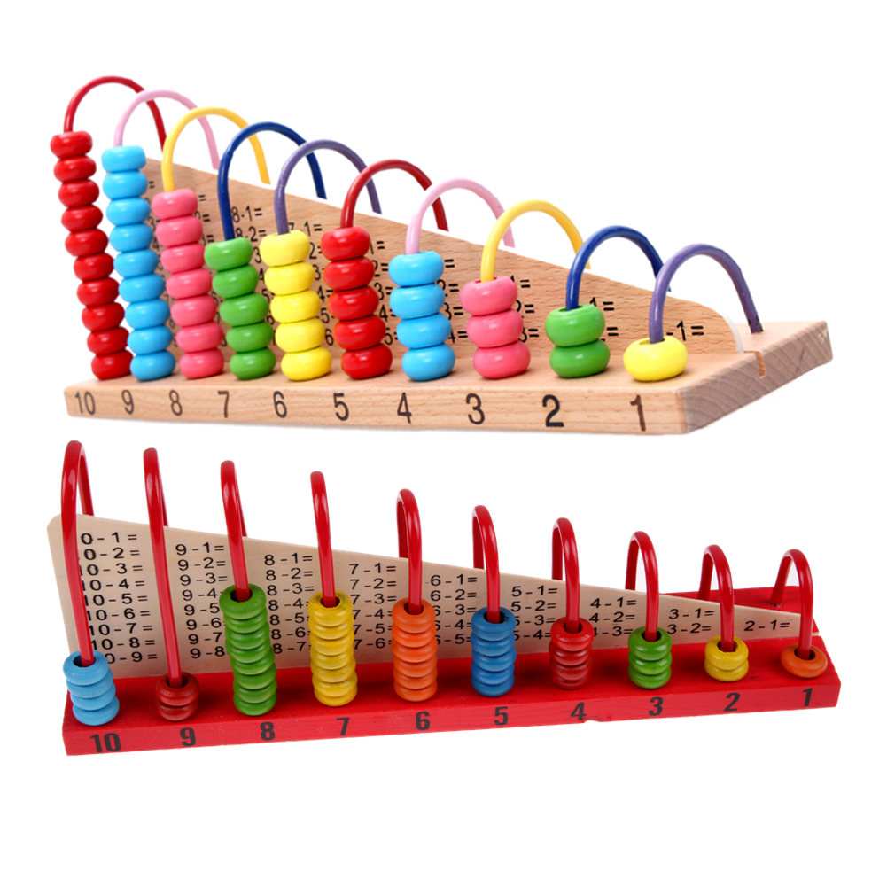 Wooden Abacus Counting Beads Maths Toy Clouds Computation Bead Blocks Kids Learning Early Educational Children Birthday Gift Toy
