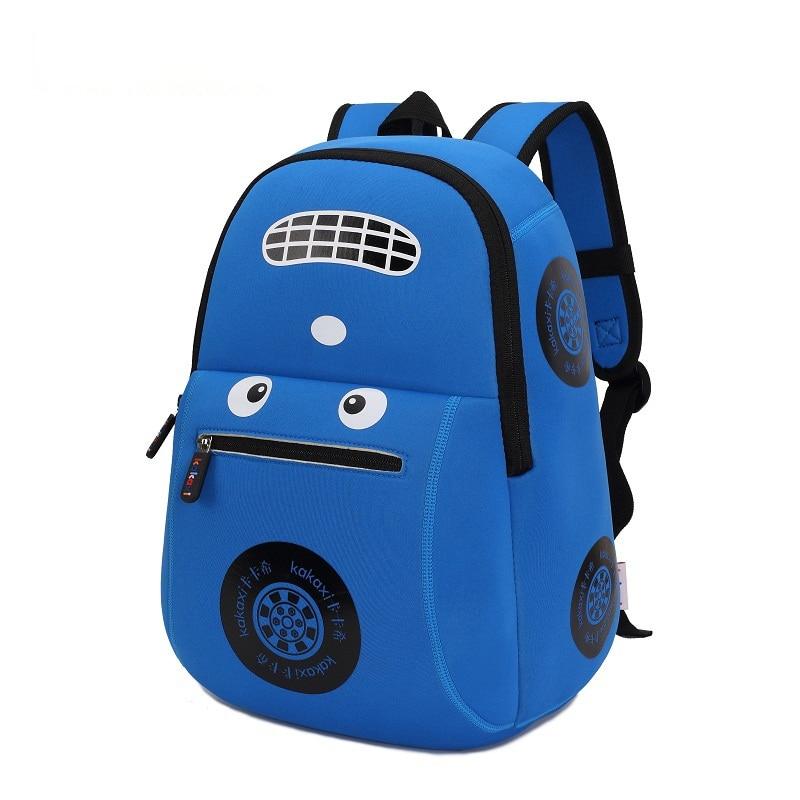 Children School Bag Cartoon 3D Car Model Waterproof Neoprene Fabric For Toddler Boys Girls Kindergarten Kids School Backpack