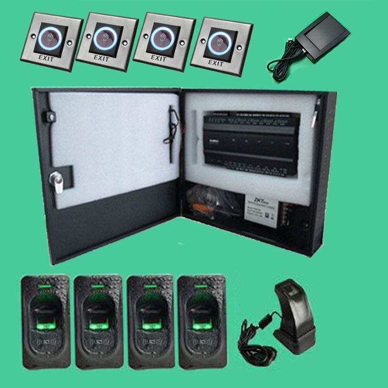 fourdoor twoway fingerprint access control panel inbio460 biometric access control kit with