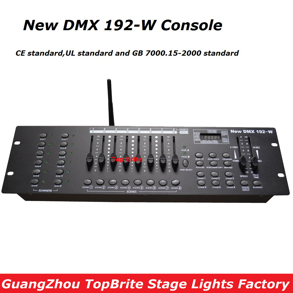 2017 Big Discount High Quality 2.4G Wireless DMX Controller New DMX 192-W Console For Stage Dj Disco Laser Lights Free Shipping цена