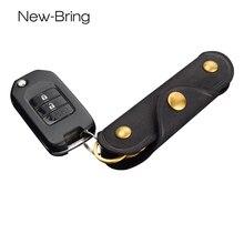 Newbring Пояса из натуральной кожи Ключи держатель Для мужчин ключница ключи Организатор Для женщин брелок Чехлы для мангала молния ключеник сумка кошелек