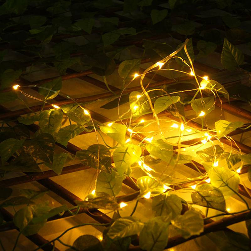 100 pièces 2 M 20 LED s LED étoilé chaîne lumières fée LED s fil de cuivre lumière décorative pour noël guirlande fête de mariage décoration - 2
