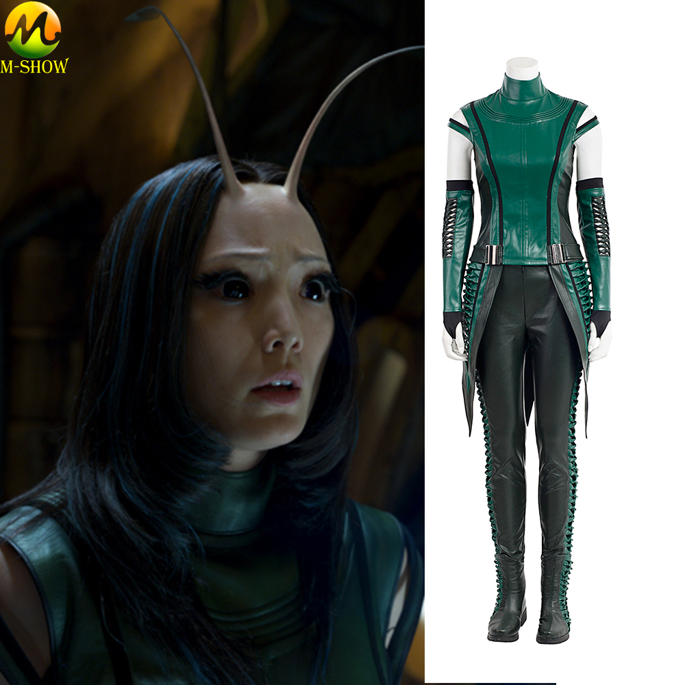 Guardians of The Galaxy 2 Cosplay Costume Women Mantis Cosplay Costume Halloween Leather Clothing Custom Made
