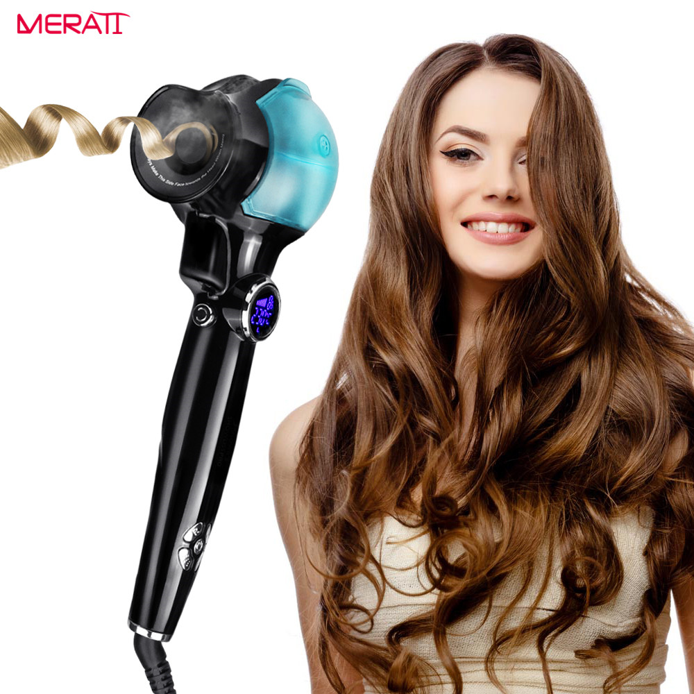 2018 New Hair Curling Irons Automatic Hair Steam Curler Curler with Anti-Static Iron Flexible Hair Curlers for Beautiful Styer new hair curler steam spray automatic hair curlers digital hair curling iron professional curlers hair styling tools 110 240v