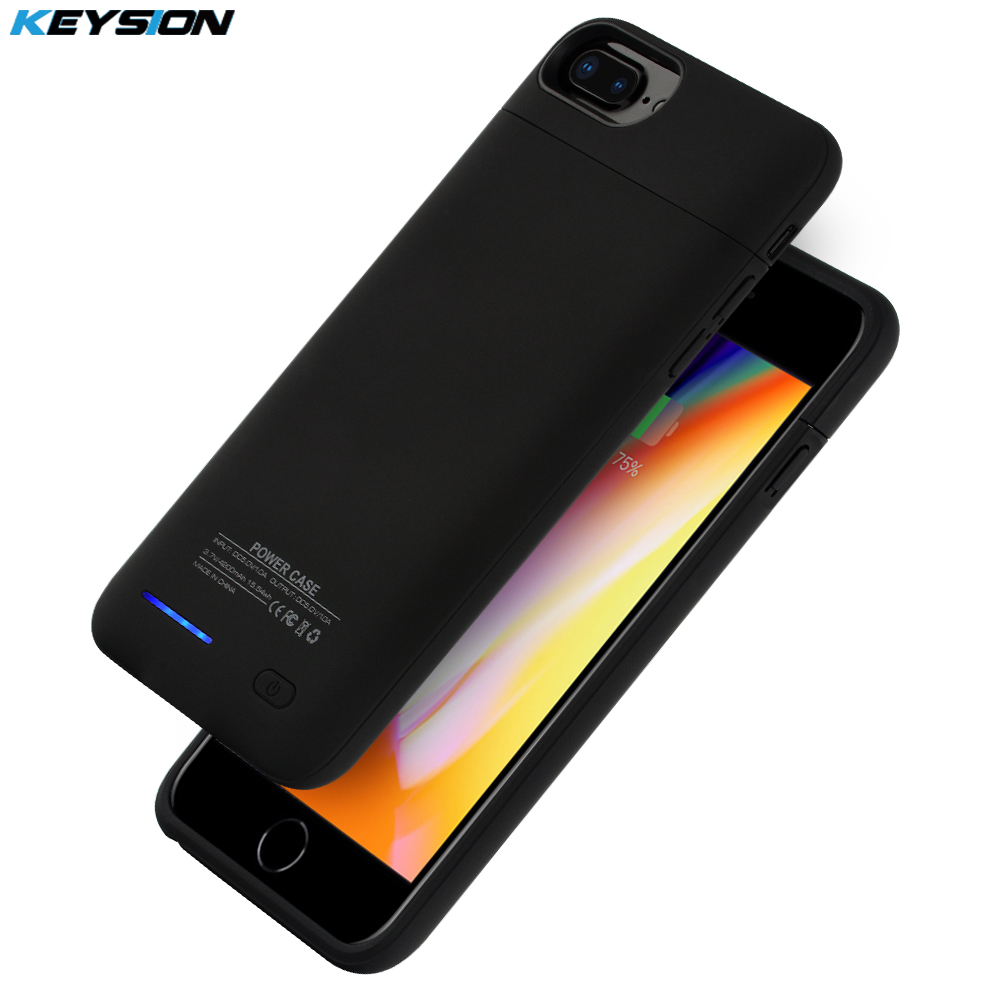 KEYSION Portable Charging <font><b>Case</b></font> For <font><b>iphone</b></font> 8 7 <font><b>6</b></font> 6s Plus 3000/4200mAh <font><b>Battery</b></font> Power Bank <font><b>Battery</b></font> Charger <font><b>Case</b></font> Cover for i8 7P 6P image