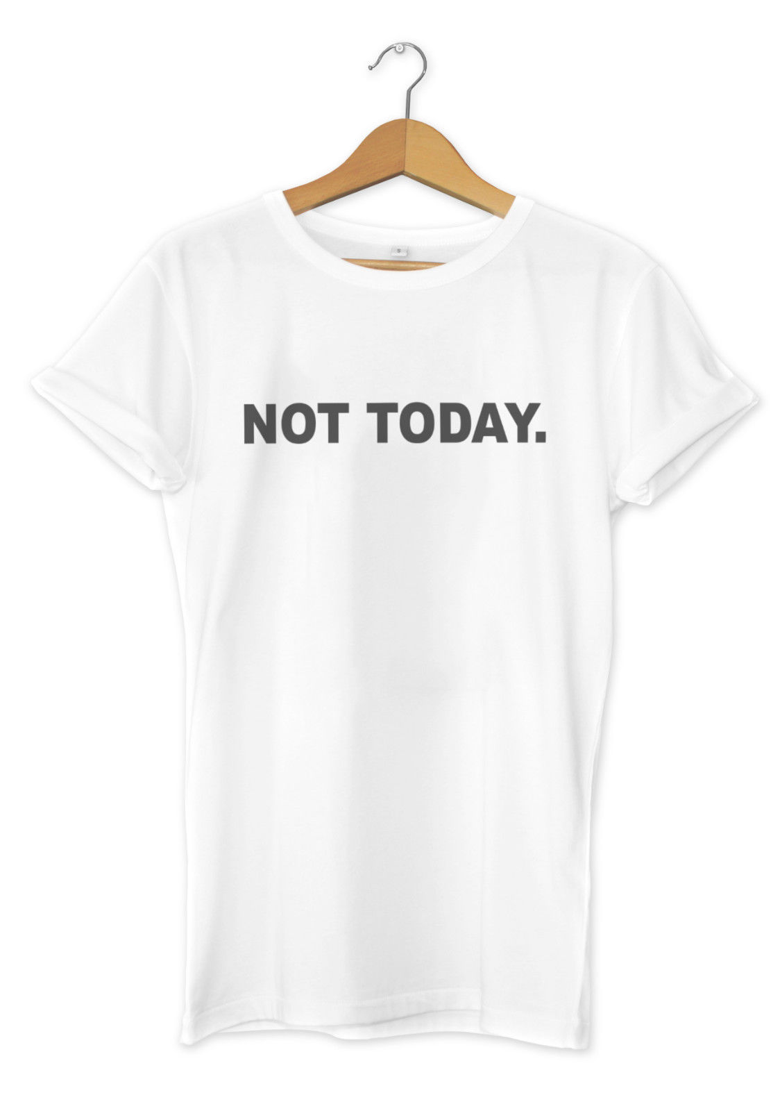 Not Today Printed T Shirt Hipster Print Blogger Design Men Girls Fashion Tee Top New T Shirts Funny Tops free shipping in T Shirts from Men 39 s Clothing