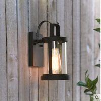 Amerikanischen minimalistischen wand lampe im freien wasserdichte landschaft lampe im freien kreative schaufenster tür balkon terrasse led licht-in LED Outdoor-Wandlampe aus Licht & Beleuchtung bei