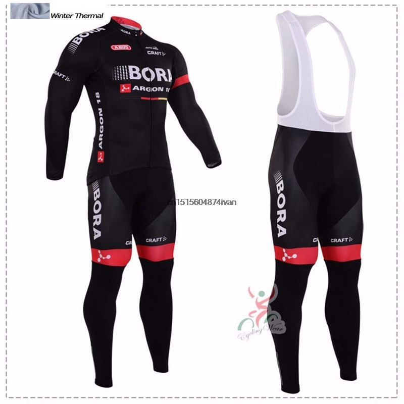 2017 Winter Fleece Thermal Cycling Team Bora Cycling Jersey Wear Clothing Maillot Ropa Ciclismo Mtb Bike Bicycle Long Clothing polyester summer breathable cycling jerseys pro team italia short sleeve bike clothing mtb ropa ciclismo bicycle maillot gel pad