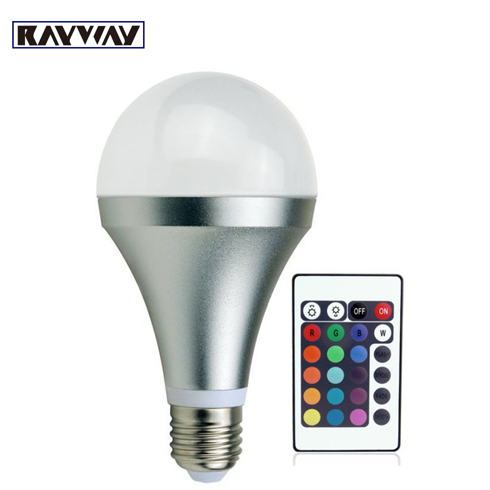 85 265V 3W 10W RGB led bulb E27 lamp led dimmable light bombilla lampara lampe ampoule