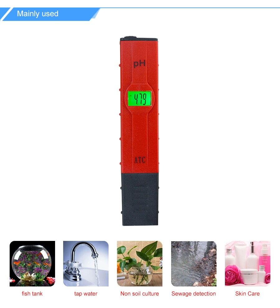 Freshwater aquarium fish high ph - Aquarium Ph Meter With High Accuracy Temperature Compensation Atc Portable Backlight Ph Meter Ph Tester 0