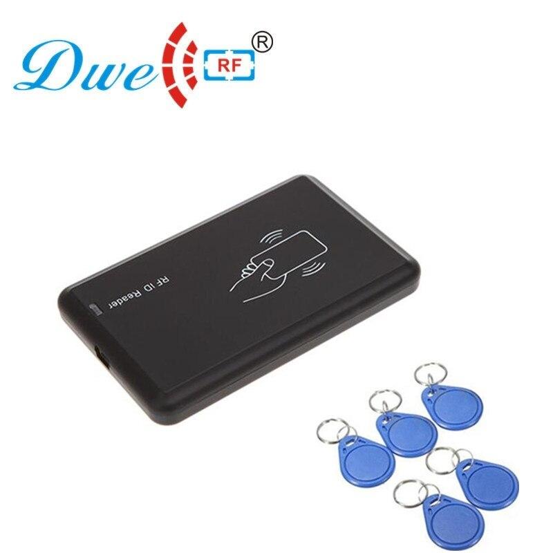 125khz rfid id card reader programmer burner rfid copier clone access card key duplicator + 5pcs EM4305 tags id card 125khz rfid reader