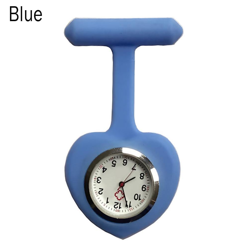 Silicone Nurse Love Heart Shape Watch Pocket Brooch Clip Medical Nurse Pocket Nursing Watch FS99