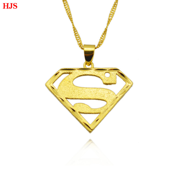 Superman pendant 18k gold plated plated superman necklaces superman pendant 18k gold plated plated superman necklaces pendants jewelry for menwomen mozeypictures Gallery