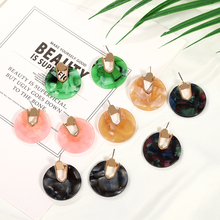 Bohemian Woman Earrings Colorful Summer New Retro Metal Stone Drop Jewelry Suitable For Party Wholesale