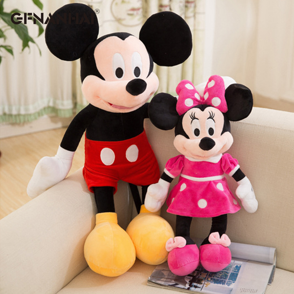 1pc 40-100cm High Quality Stuffed Mickey & Minnie Mouse Plush Toy Dolls Birthday Wedding Gifts For Kids Baby Children