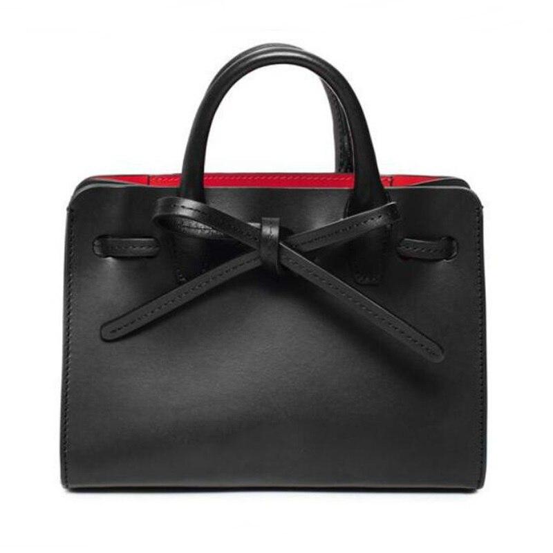 ФОТО Famous Designer Brand Tote Bag MANSUR GAVRIEL Women Luxury Leather Drawstring Handbags Female Shopping Bag String Shoulder Bag