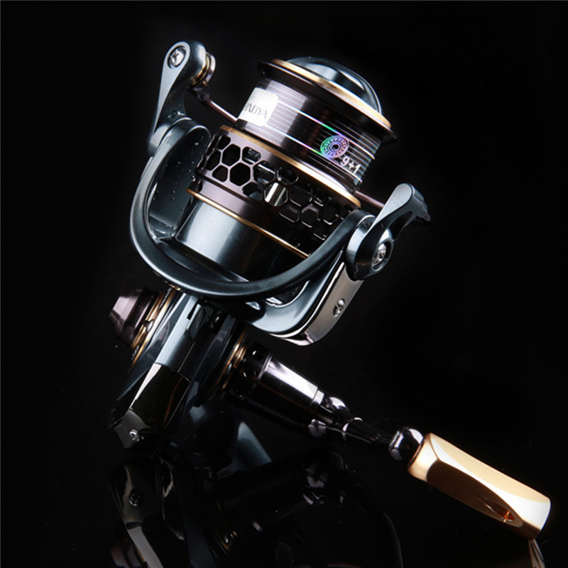 1000 2000 3000 Spinning Fishing Reel 9+1BB Gear Ratio 5.2:1 Double Metal Spool Lure Reel 249g High-strength Composite Shell