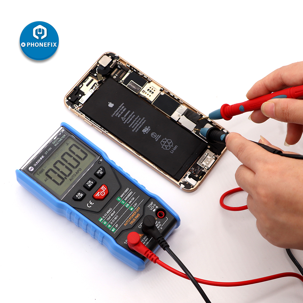 Intelligent DT-19N mini Digital Multimeter Tester <font><b>AC</b></font> DC Ammeter Voltmeter Temperature Resistance measurement Ohm Test <font><b>Tool</b></font> image