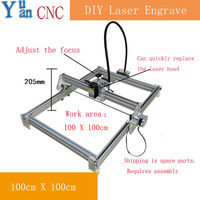 10W Mini Desktop DIY Laser Engraving Cutting Machine CNC Mark On Metal 100 100cm Big Worke