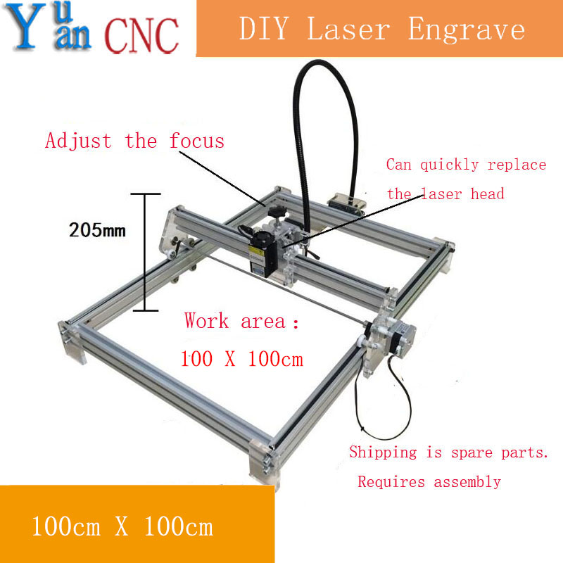 Mini desktop DIY Laser engraving cutting machine CNC mark on metal 100*100cm big worke area laser cutter  Advanced Toys x benbox 300 400mm 2500mw big diy laser engraving machine 2 5w diy marking machine diy laser engrave machine advanced toys