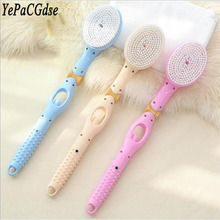 Long handle foldable automatic add shower gel replacement brush head massage soft hair bath
