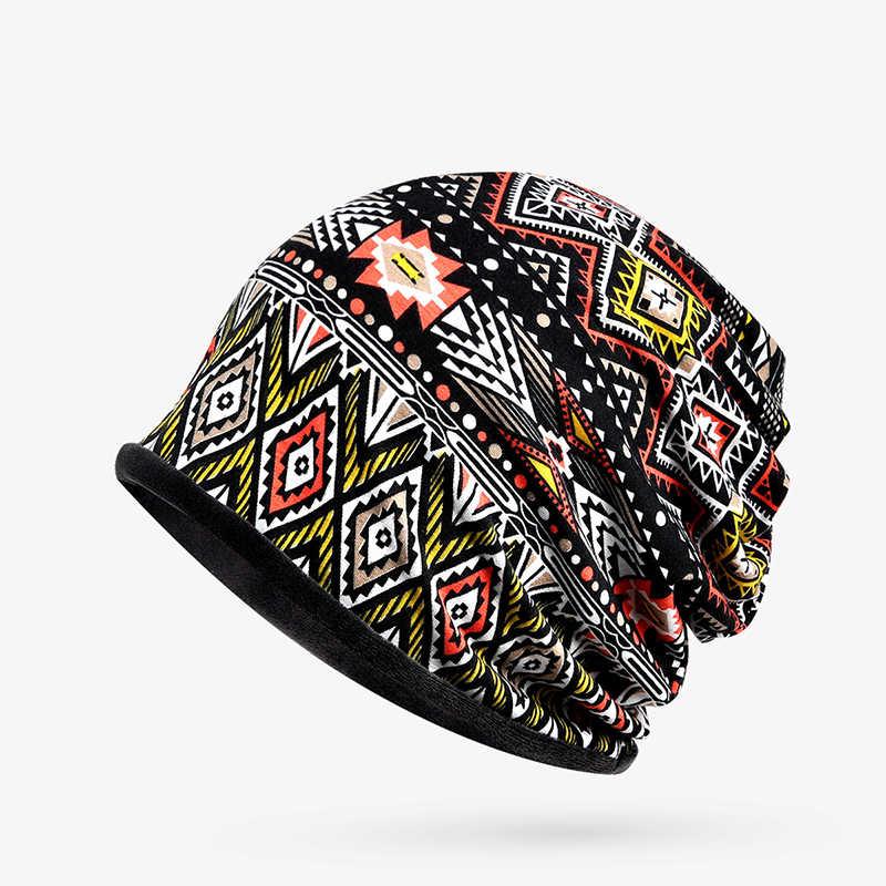 DANKEY ISI ผู้หญิงผู้ชายหมวกหมวกฤดูหนาว Beanies หมวกถักชาติพันธุ์อบอุ่นหมวกหมวกสำหรับผู้หญิง Feminino กระดูกสำหรับสุภาพสตรี